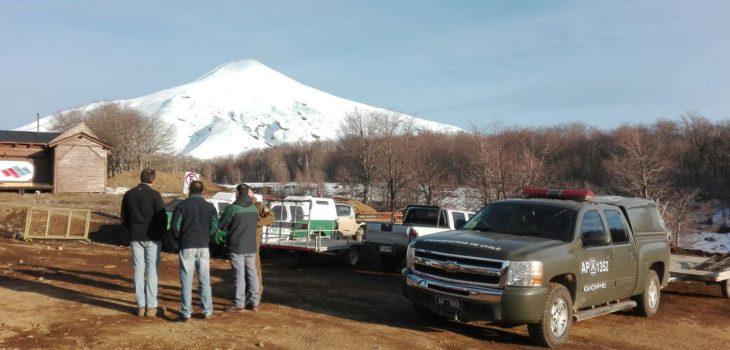 rescate lesionado y víctima fatal tras accidente en volcán Villarrica