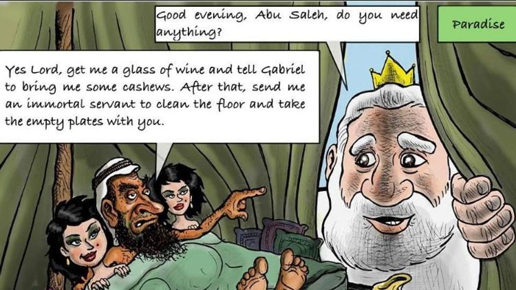 Caricatura contra el Islam