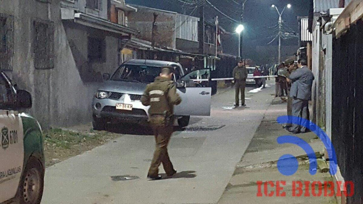 Carabineros investiga hallazgo de jóvenes muertos en una camioneta en Coronel