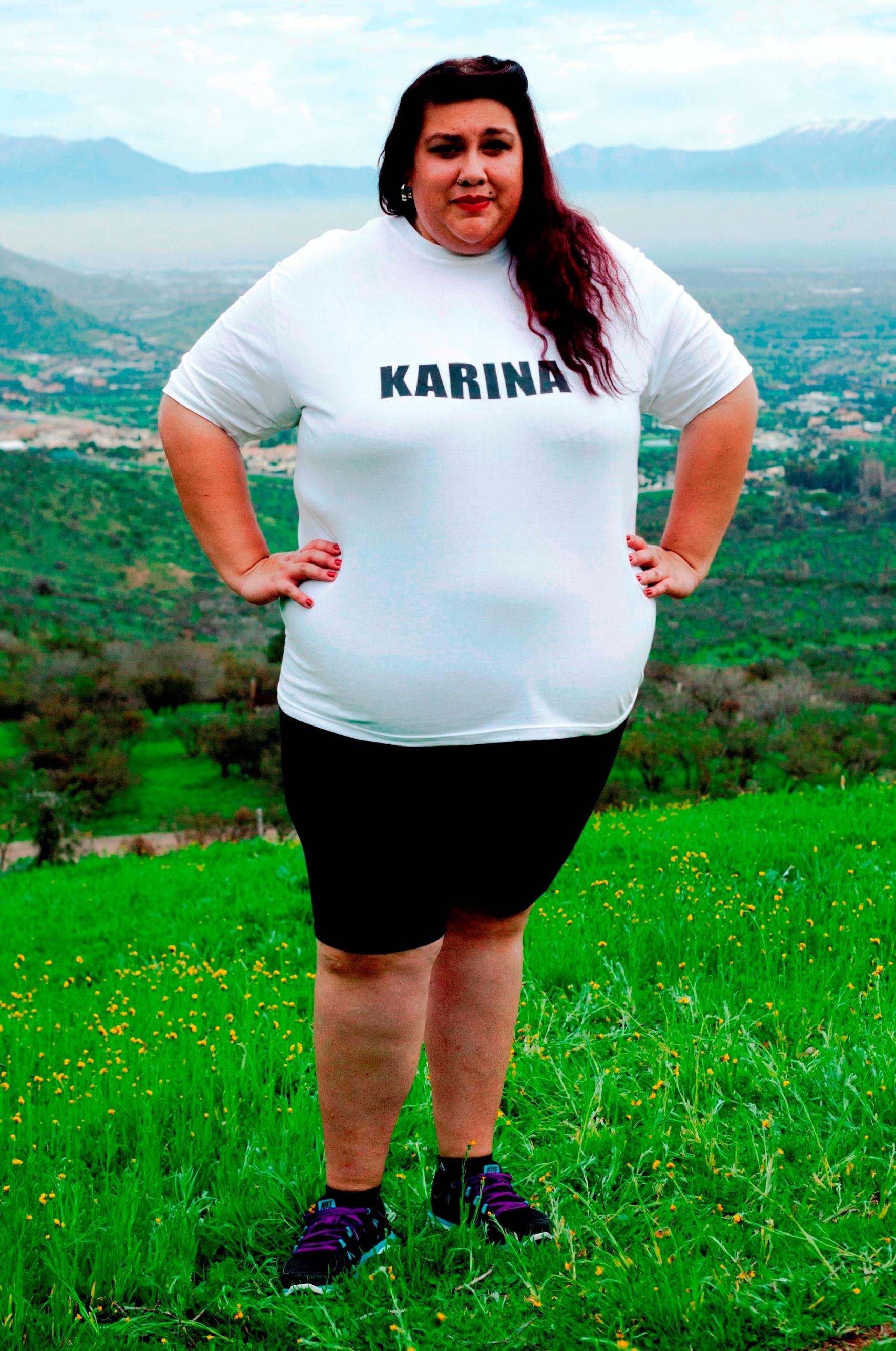Karina compitió en Peso Pesado
