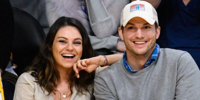 Mila Kunis y su pareja Ashton Kutcher