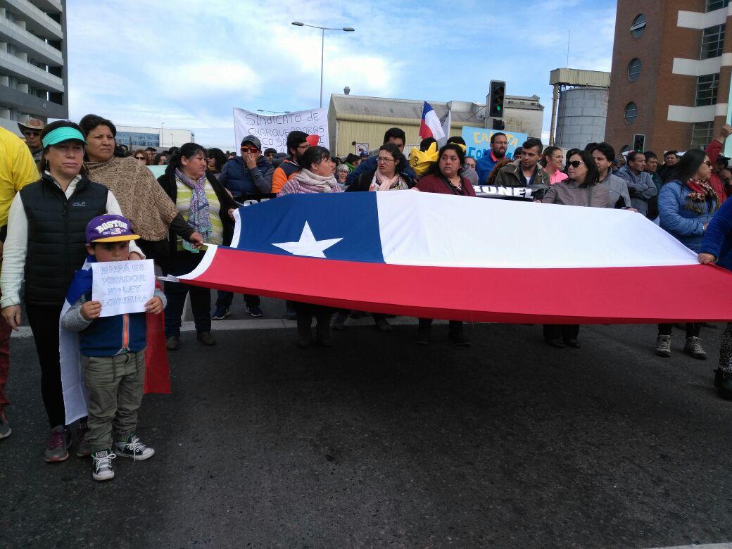 Marcha de pescadores en Concepción