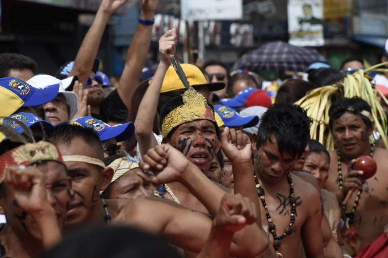 Marcha oposición venezolana.