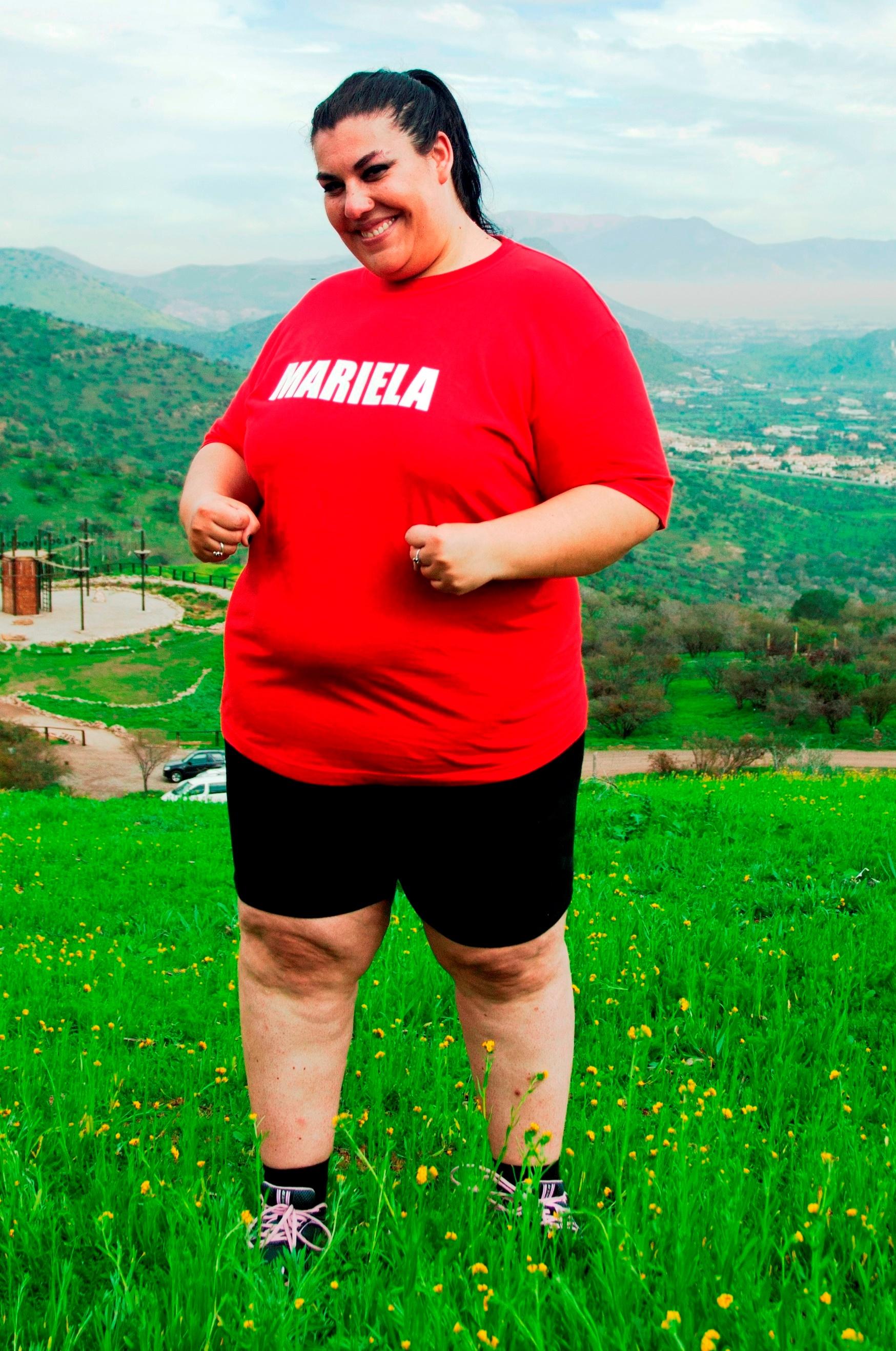 Mariela compitió en Peso Pesado