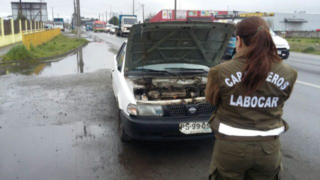 2 adultos y 3 adolescentes fueron detenidos tras robo de auto en Puerto Montt