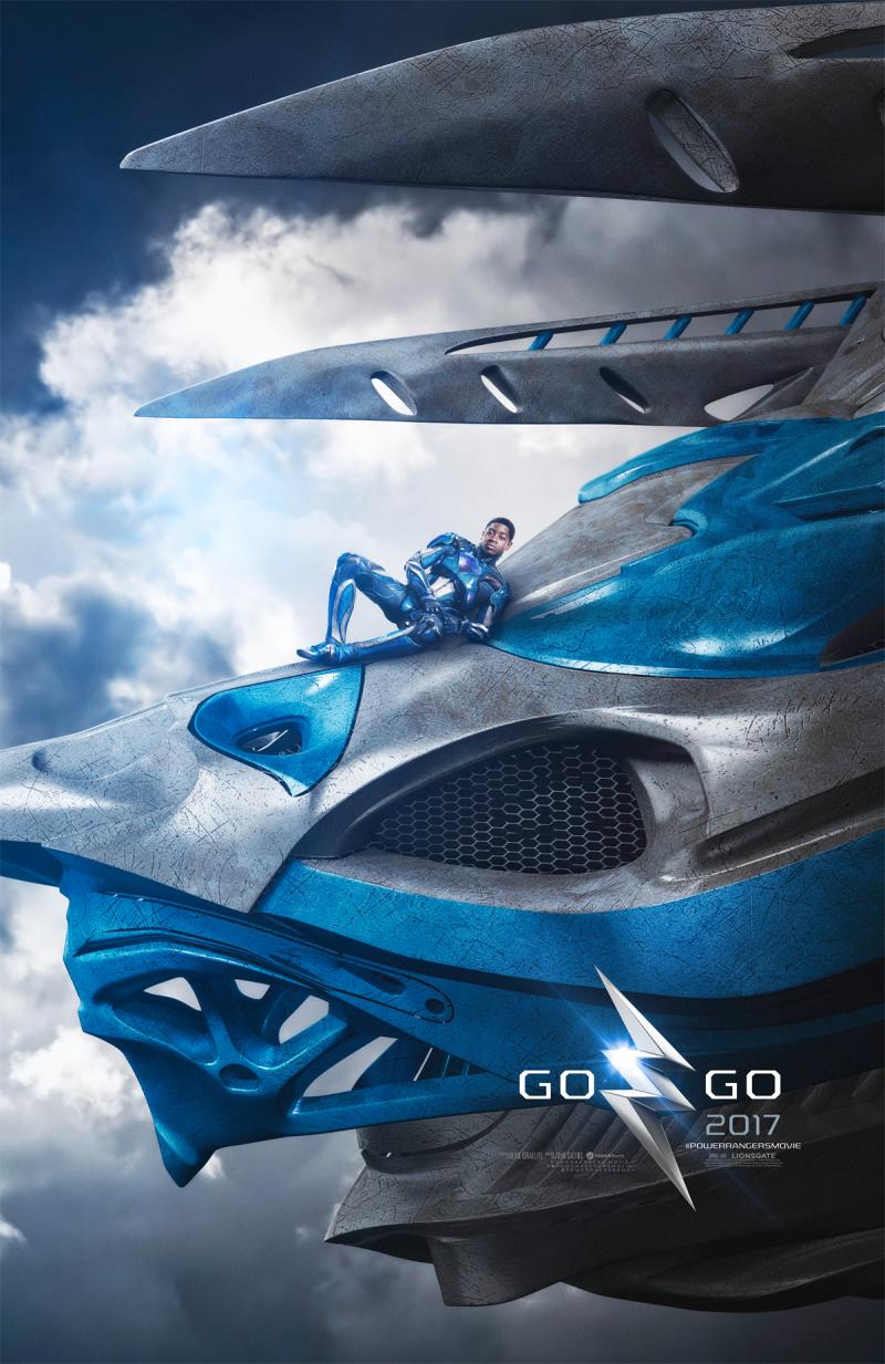 Los Power Rangers y sus Zords lucen irreconocibles en pósters oficiales de nueva película
