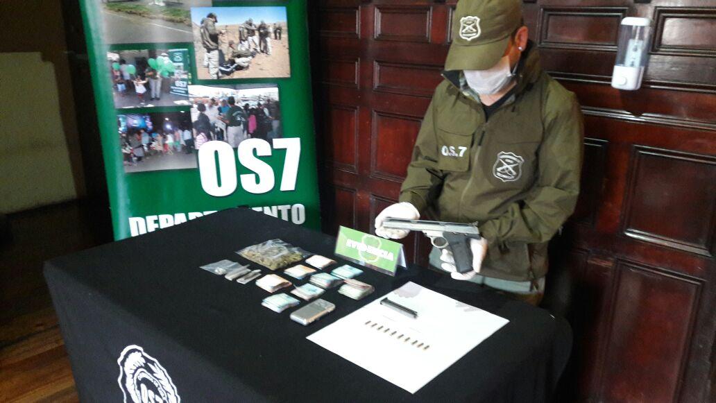 Especies incautadas durante operativo del OS7 en Valparaíso