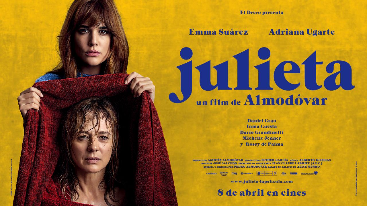 """Afiche de la película española """"Julieta"""""""
