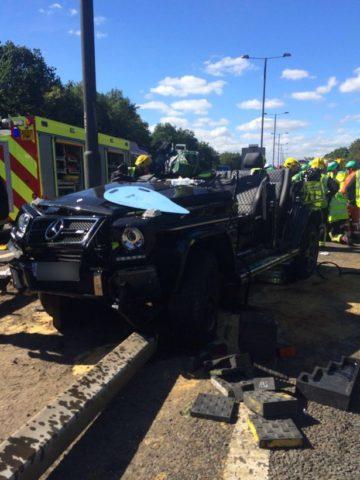 El jugador del Crystal Palace sufrió un accidente en su auto