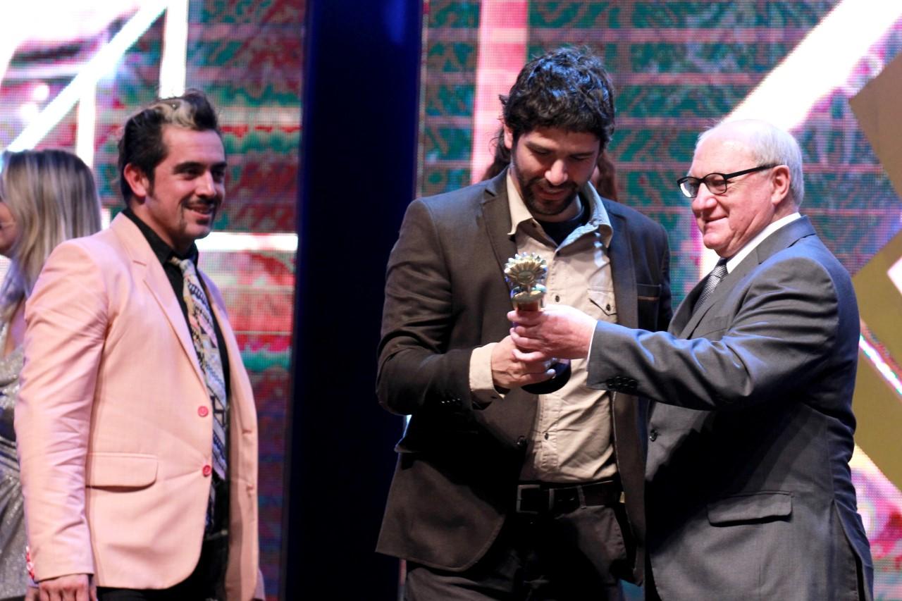 Koke Santa Ana y parte del equipo de Sin Norte en el Festival Internacional de Cine de Gramado