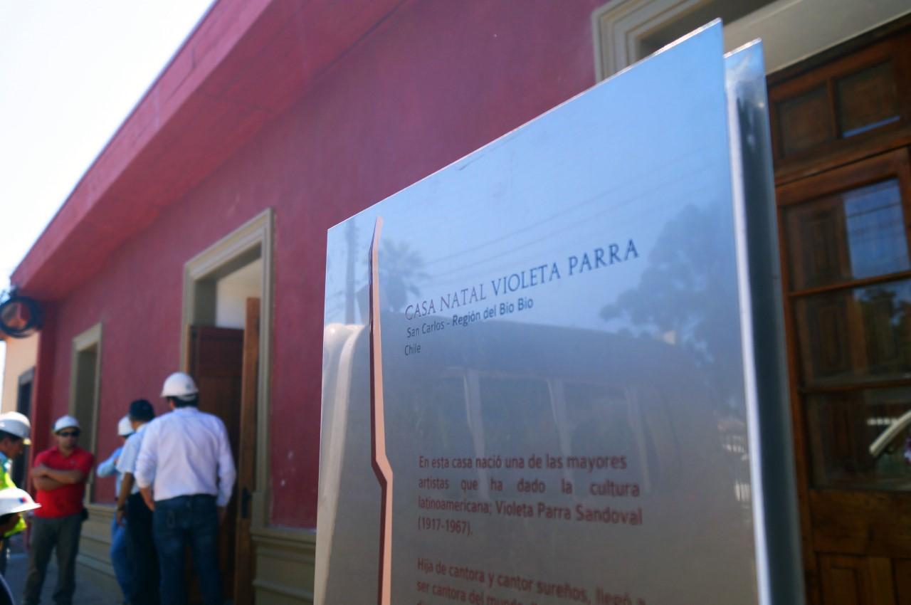 Inauguración casa museo de Violeta Parra