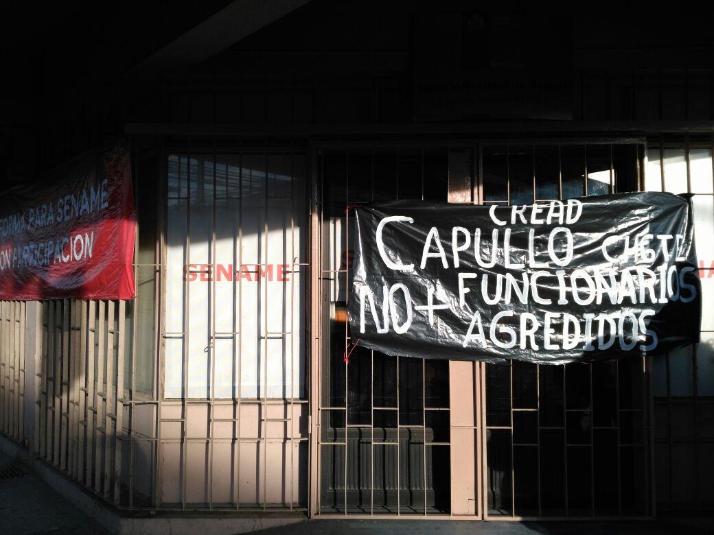 Trabajadores realizan toma del Sename en Concepción