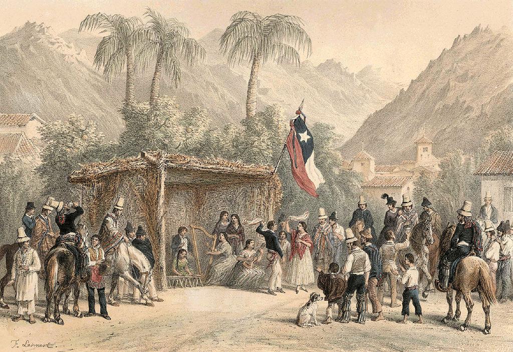 Una chingana en Chile del siglo XIX