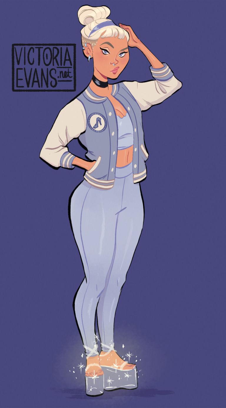 """Así lucirían las princesas Disney si fueran adolescentes """"rudas"""" y con cuerpos """"reales"""""""