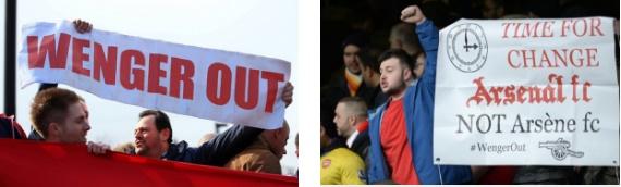 Hinchas piden salida de Wenger