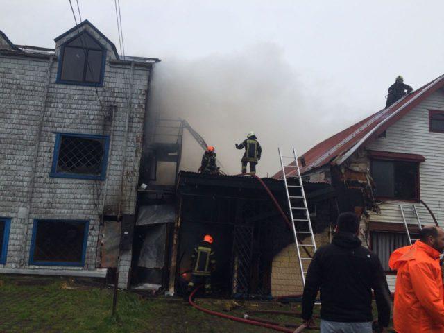 Dos casas resultaron dañadas tras incendio registrado en Puerto Montt