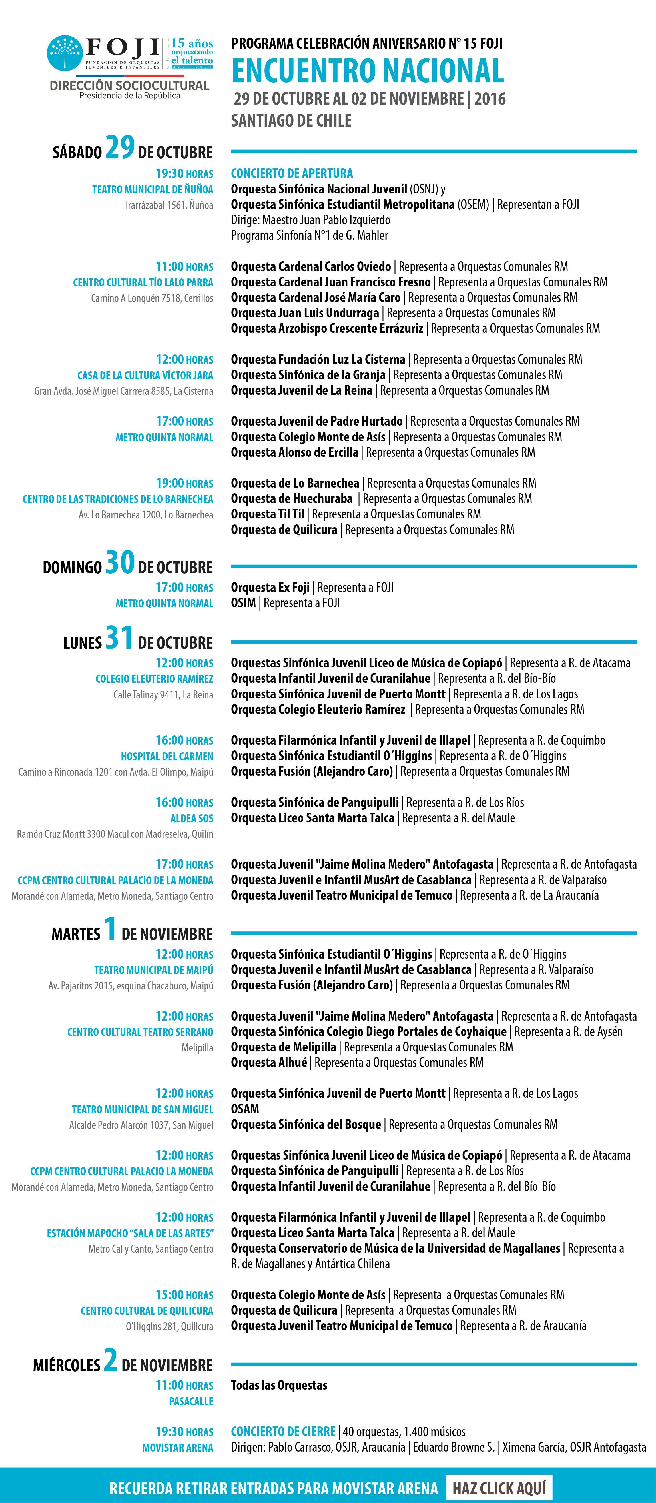 13° Encuentro Nacional de la Fundación de Orquestas Juveniles e Infantiles de Chile