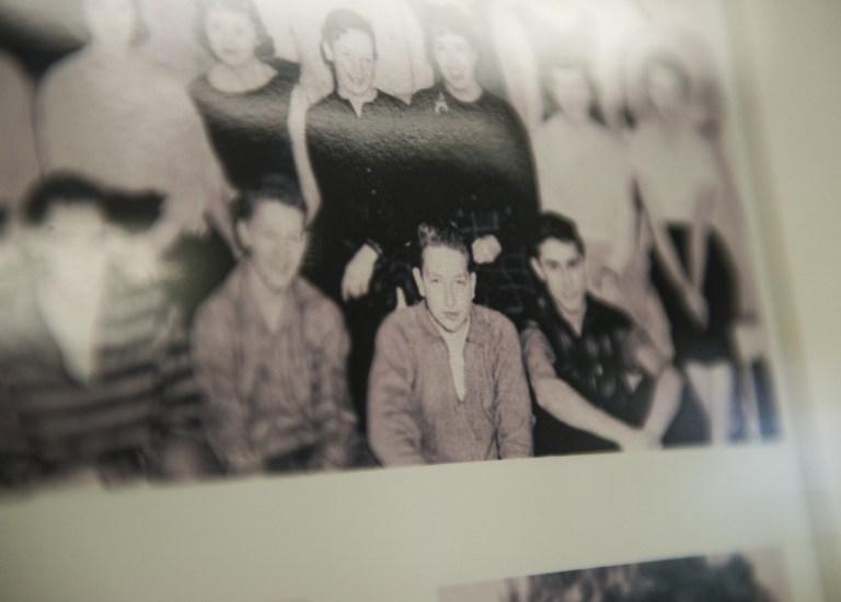Bob Dylan durante su juventud, cuando vivía en Hibbing