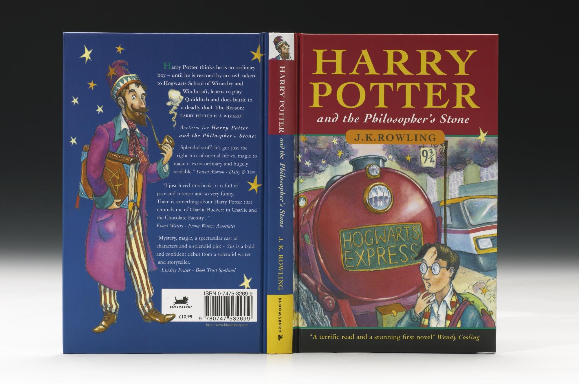 Primera edición del libro Harry Potter y la Piedra Filosofal | Sotheby's