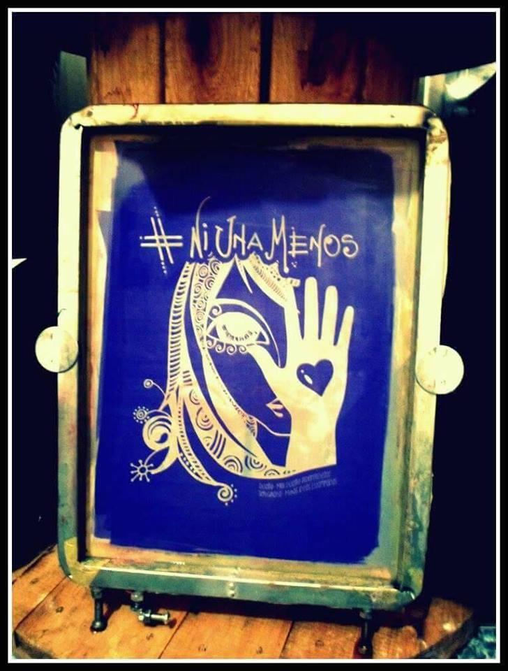 El dibujo de la pintura que dio origen a la ilustración de #NiUnaMenos