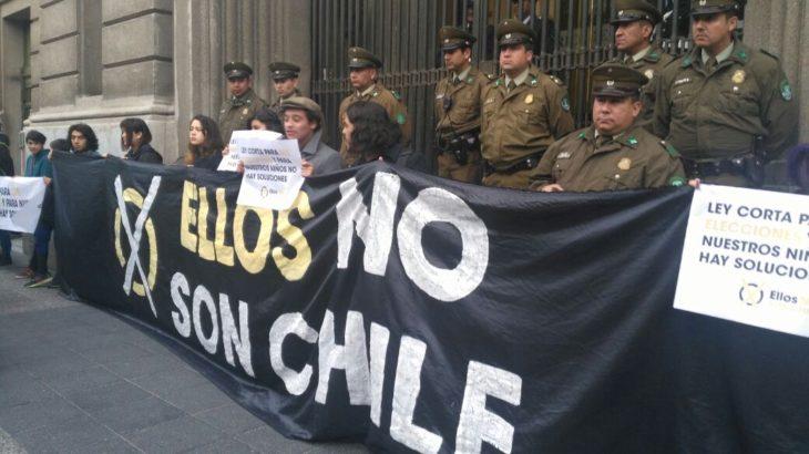 protesta exterior ministerio de justicia