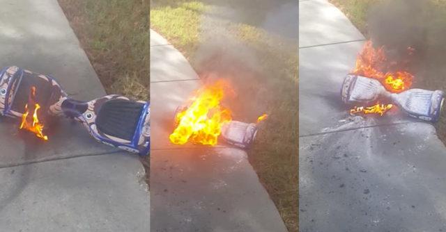 Un Hoverboard incendiándose | Amazetify