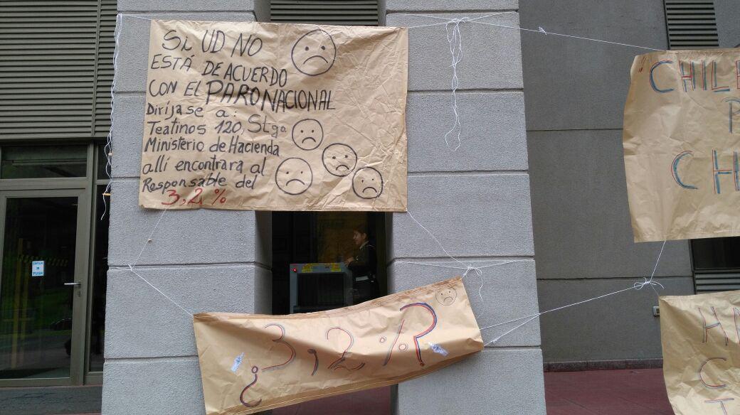 Temuco: trabajadores de Corte de Apelaciones jornada de solidaridad con la Anef
