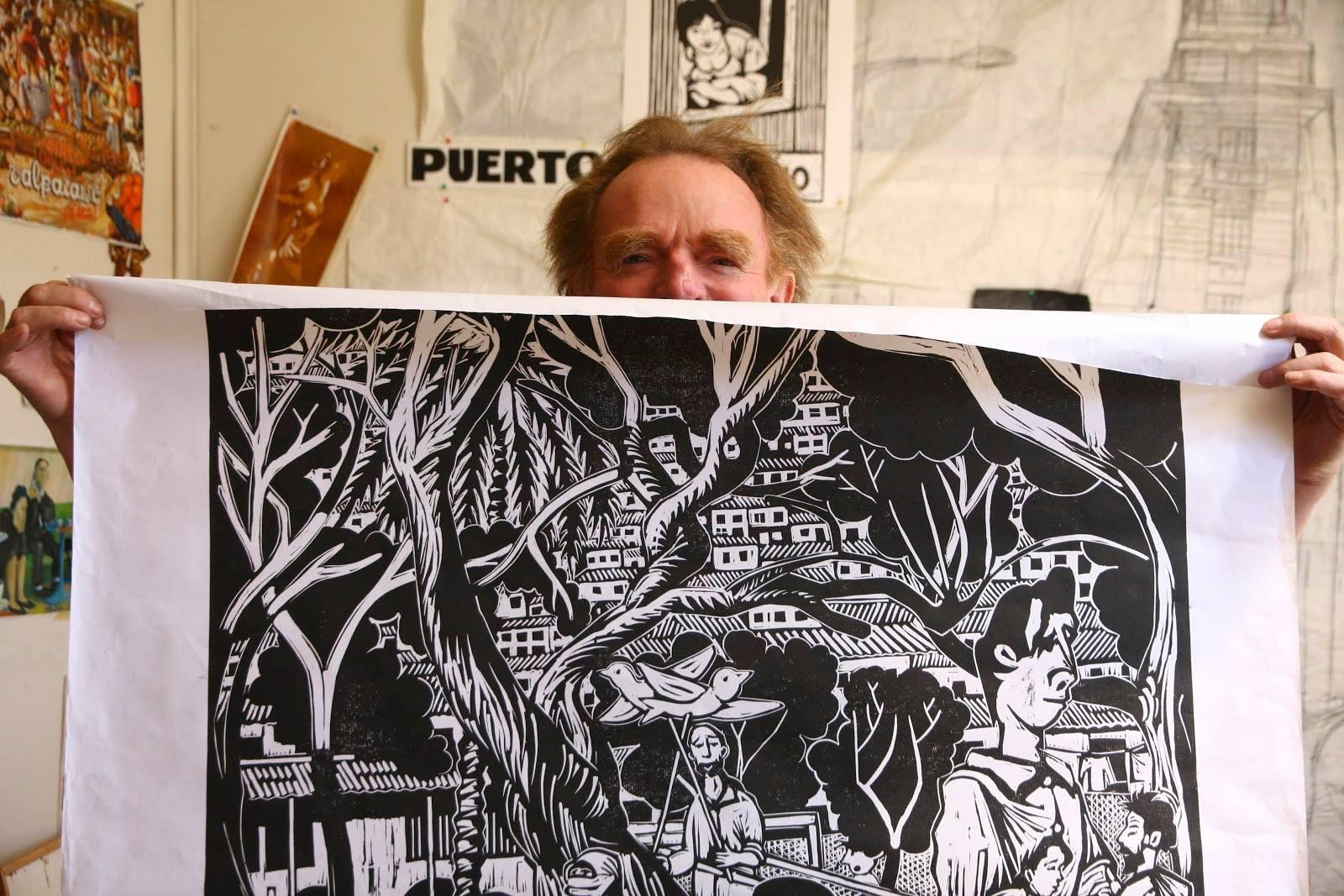 Serigrafía de Loro Coirón