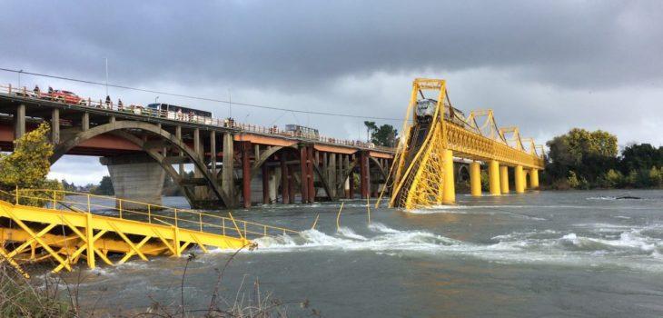 Situación tras caída de puente ferroviario