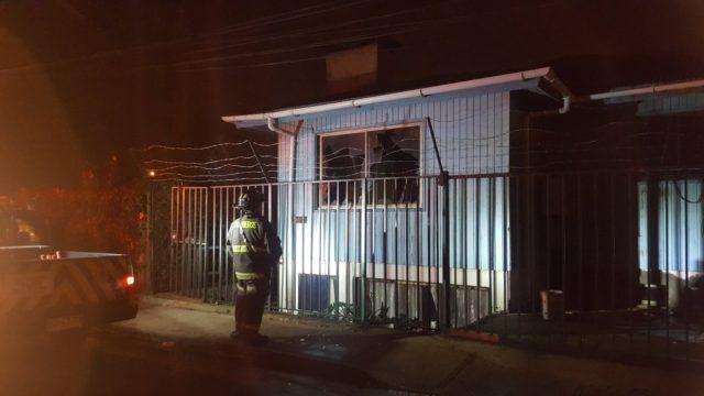 Explosión en domicilio con posterior incendio deja un fallecido en Viña del Mar