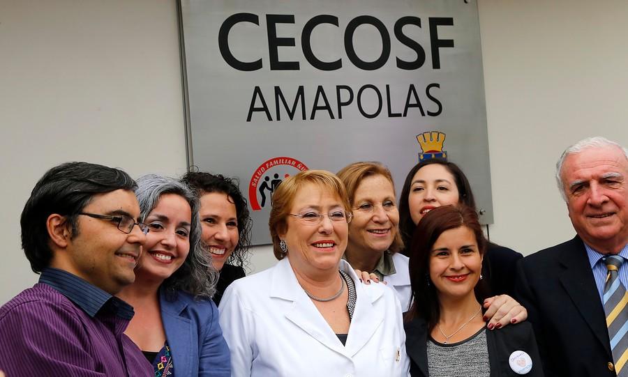 Presidenta visita nuevas dependencias de centro comunitario de salud de Ñuñoa
