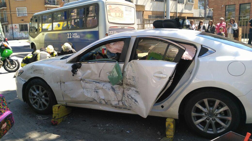 Accidente de tránsito en sector céntrico de Concepción