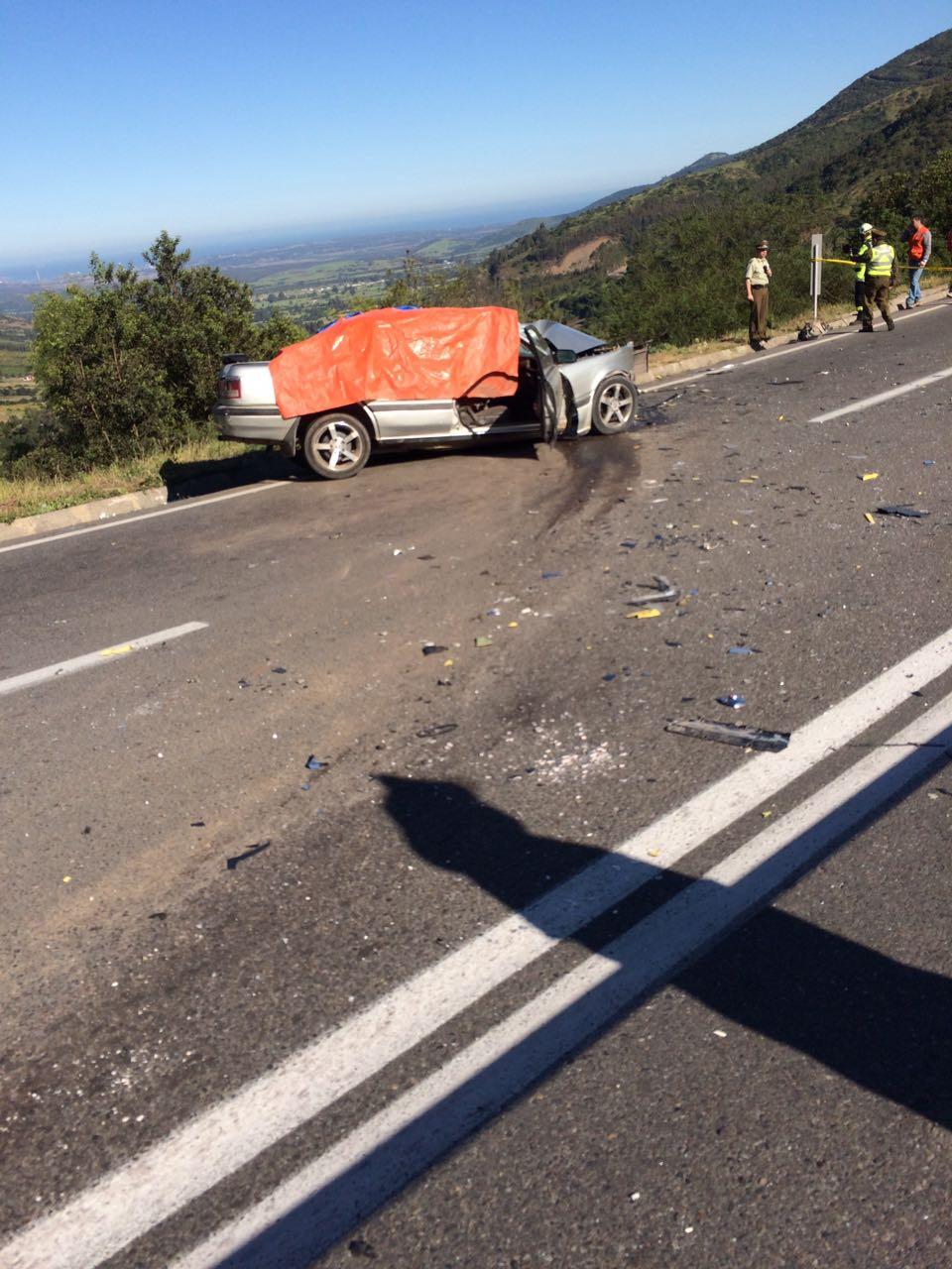ACCIDENTE EN RUTA F-20 ENTRE PUCHUNCAVÍ Y NOGALES