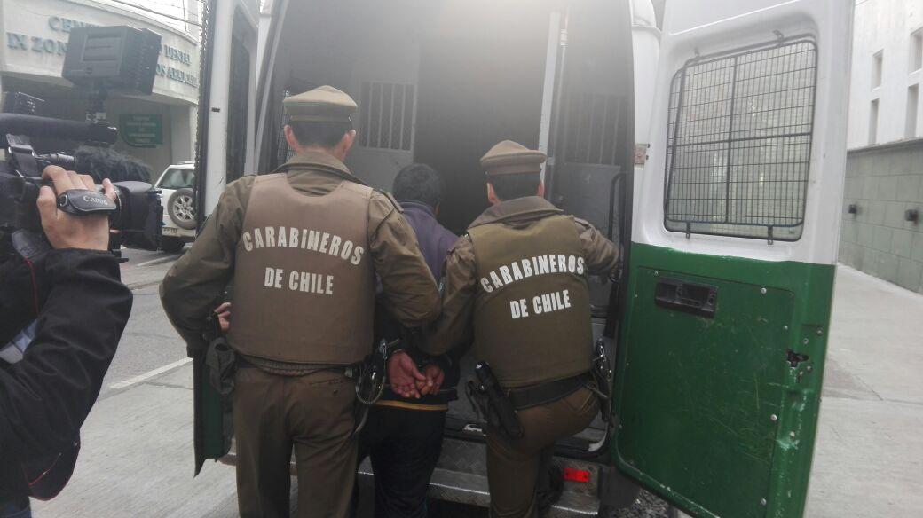 detención de encapuchado en Lautaro