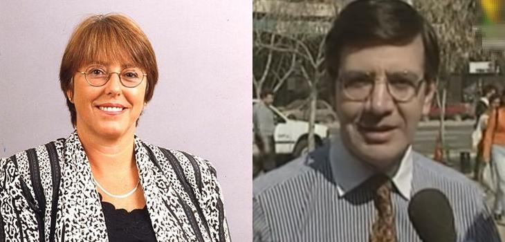 Michelle Bachelet y Joaquín Lavín en 1996