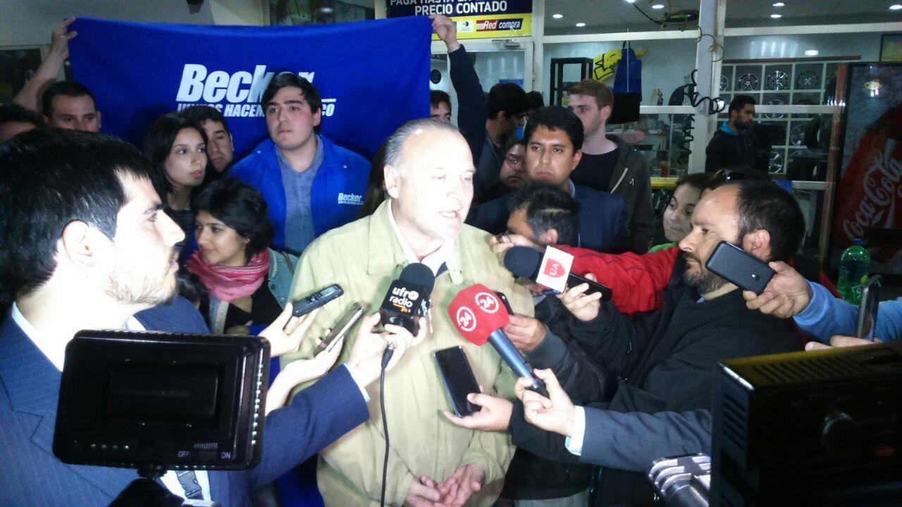 Miguel Becker reconoce su triunfo y destaca abismante diferencia con sus competidores