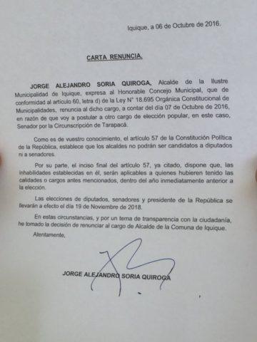 carta renuncia alcalde iquique