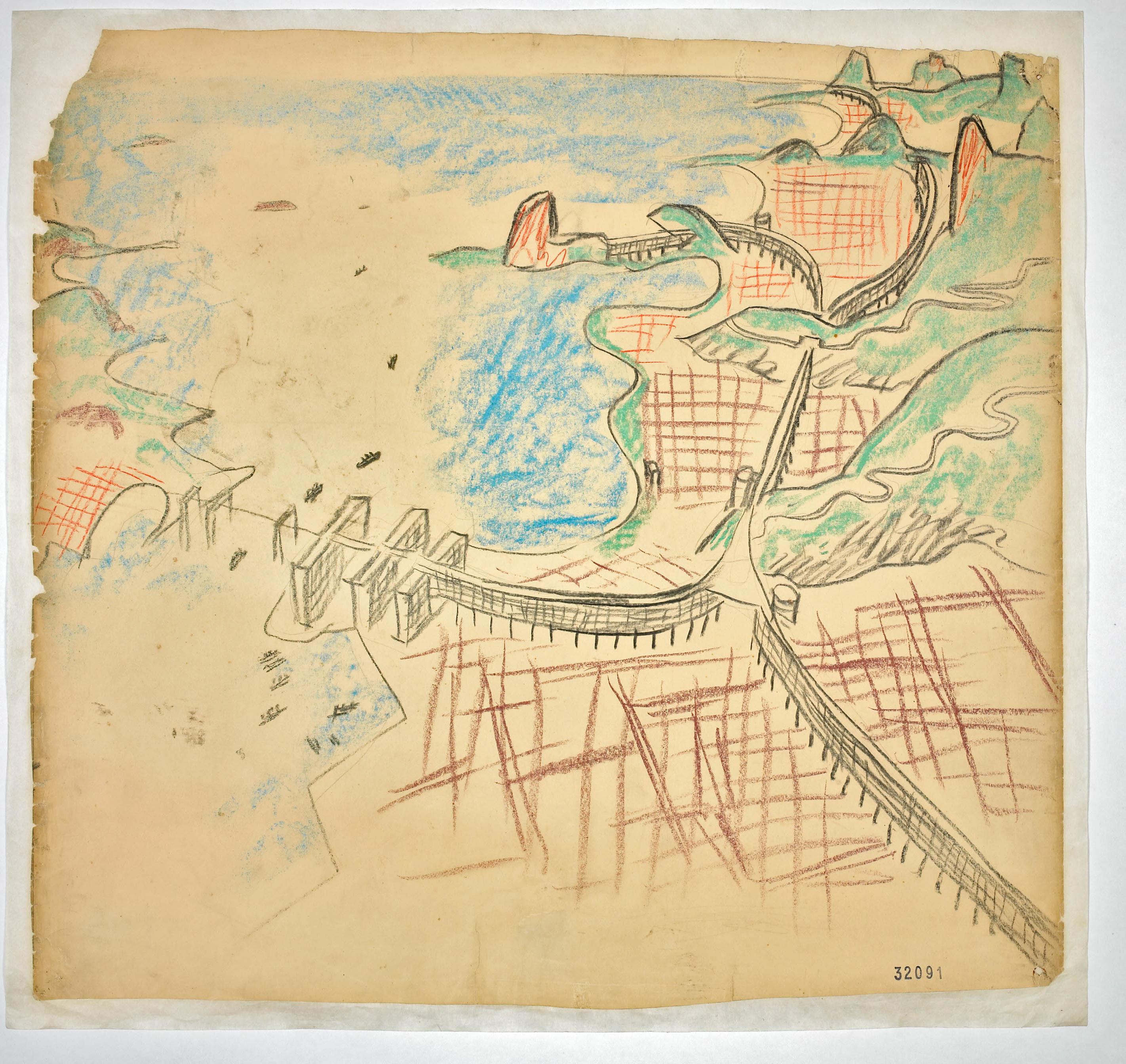Conferénces de Le Corbusier, 1929 - Propuesta Rio de Janeiro. ©Fondation Le Corbusier
