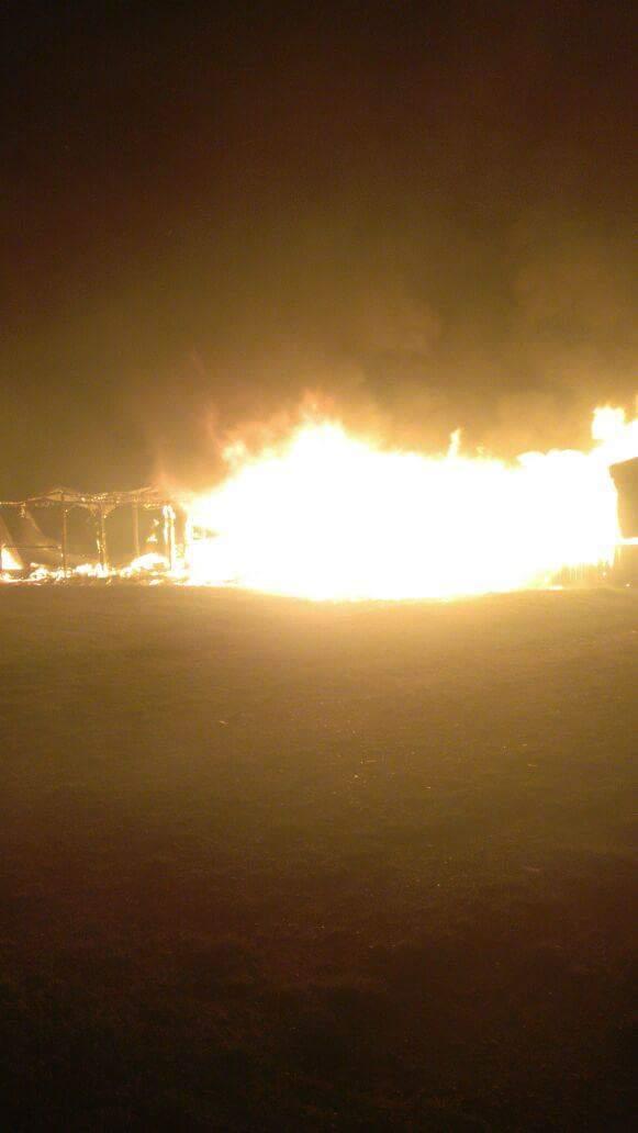 Incendio en feria costumbrista de Lenca