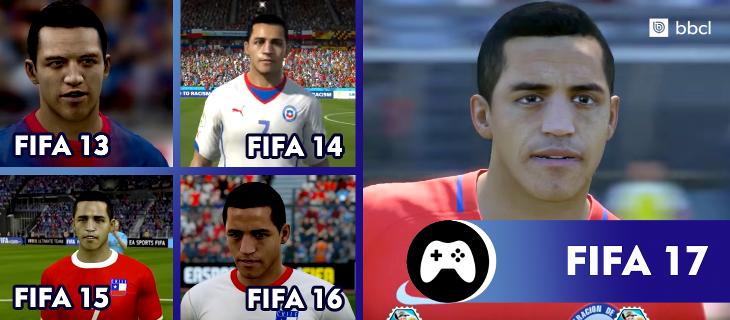 Alexis Sánchez en la saga FIFA