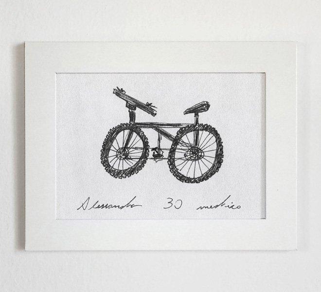 Los bocetos de bicicleta que se convirtieron en una