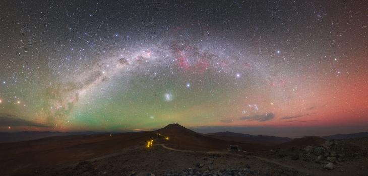 Fotografía de la galaxia tomada desde el ESO en cerro Paranal, norte de Chile.