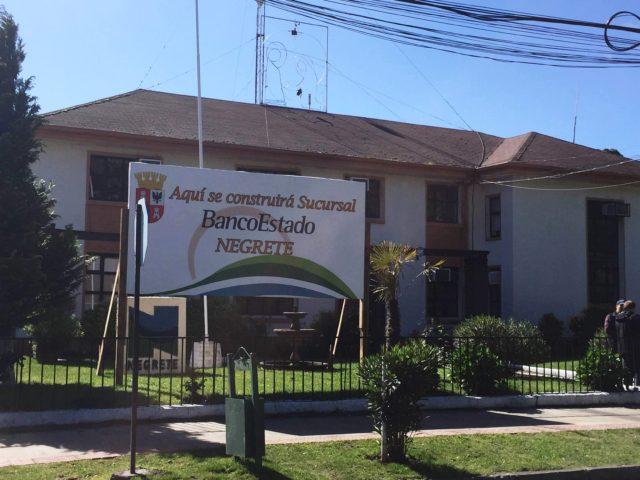 Habilitarán sucursal de BancoEstado en céntrico terreno cedido por el municipio de Negrete