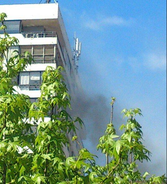 Incendio en Edificio Amanecer