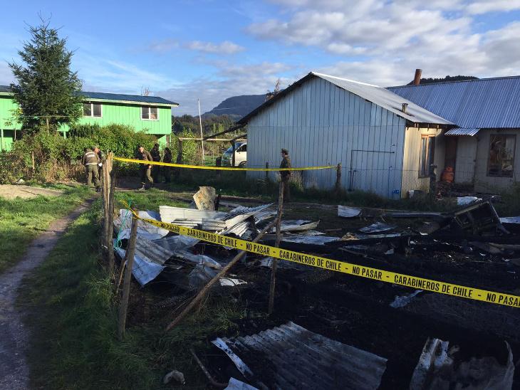 Incendio en sector Las Chilcas de Puerto Montt.