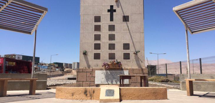 Memorial de las victimas del psicopata de alto hospicio.