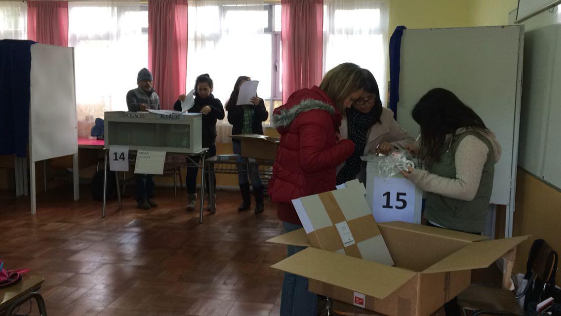 MESAS DE VOTACIÓN EN REGIÓN DE VALPARAÍSO