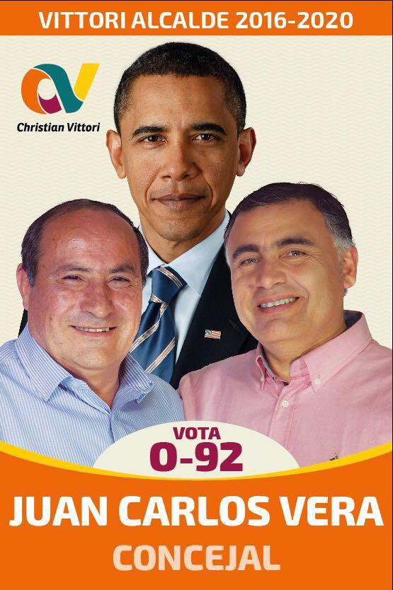 Obama en campaña de concejal por Maipú