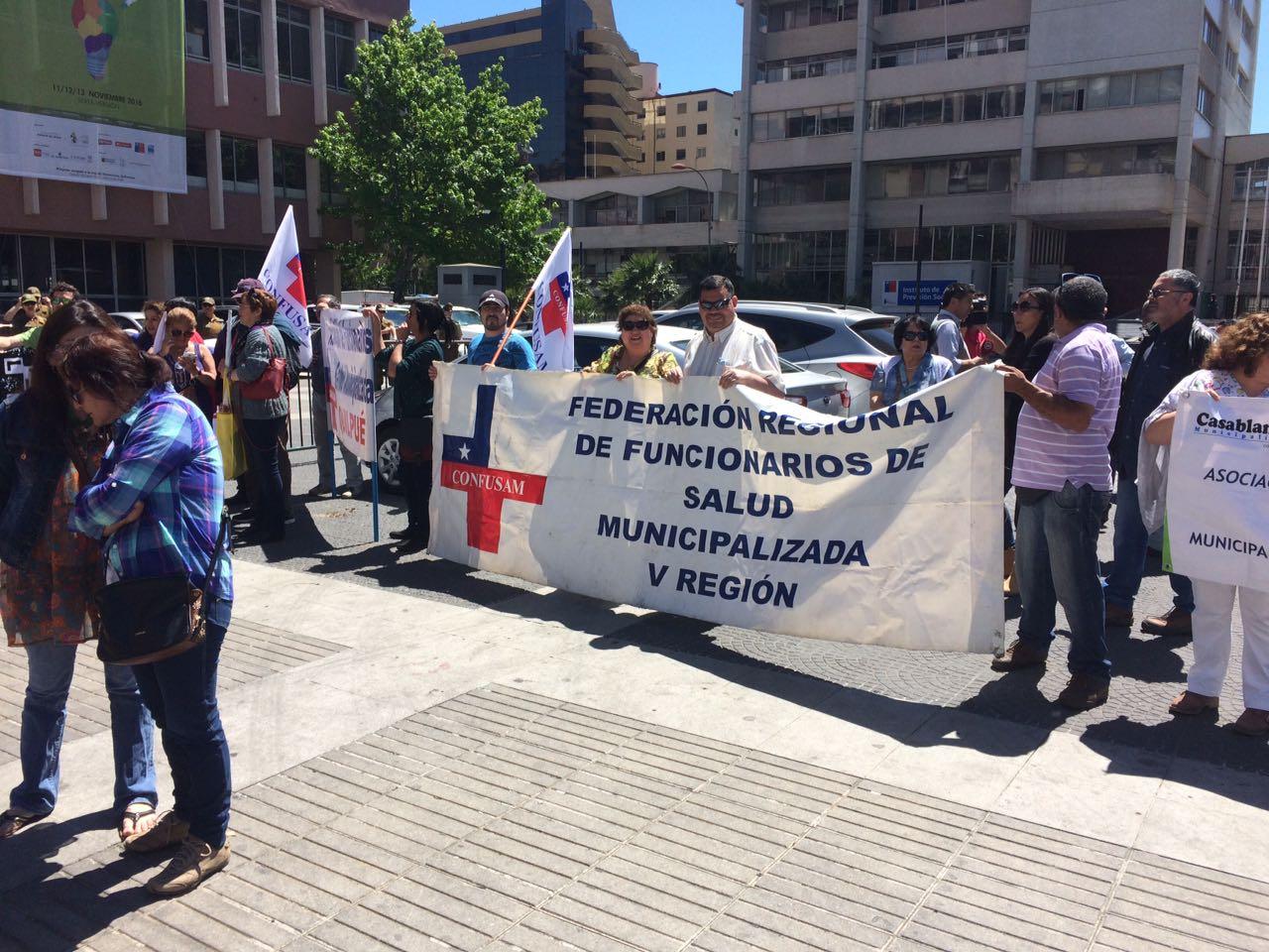 Marcha trabajadores de la salud
