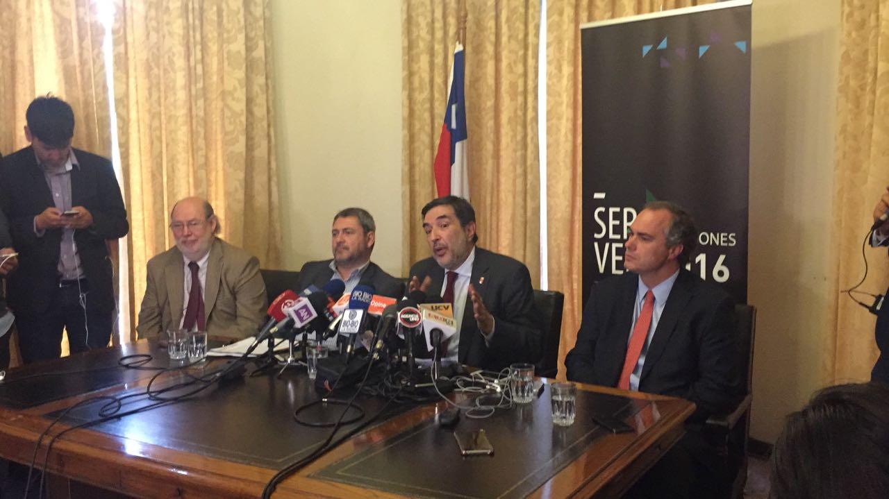Punto de prensa del Servel por errores en el padrón electoral.